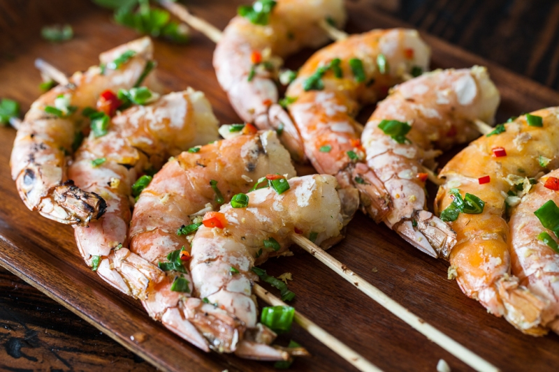 Grilled Chinese Prawns